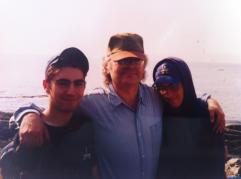 Joe with his sons, David Salerno and Dan Salerno